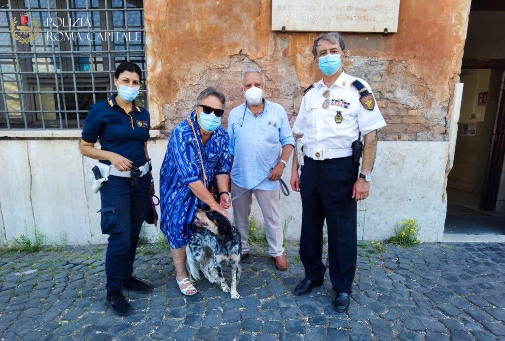 cagnolina salvata dalla Polizia